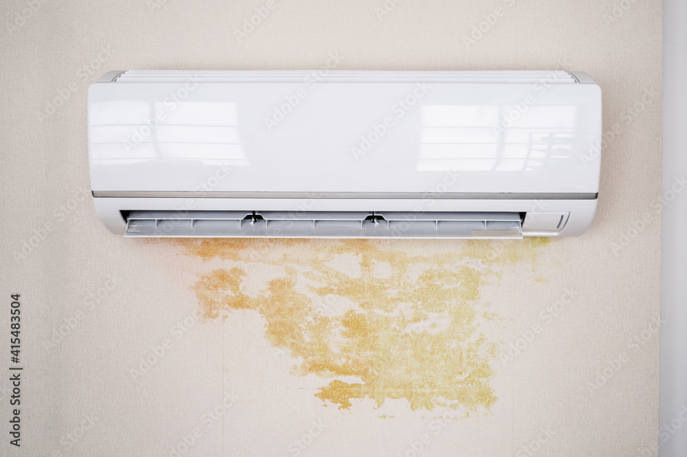 Fototapeta Leaky Air Conditioner And Water Damage