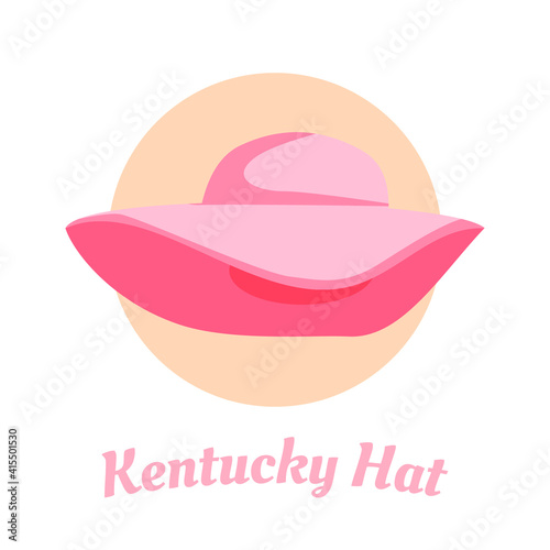 Fotografie, Tablou Simple design of Kentucky Derby hat