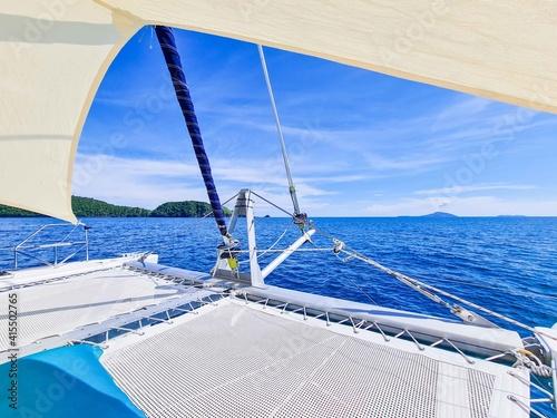 Billede på lærred luxury catamaran boat for travel