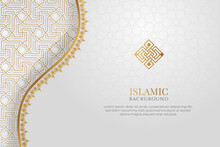 Arabic Islamic Elegant White Luxury Ornament Background With Copy Space For Text