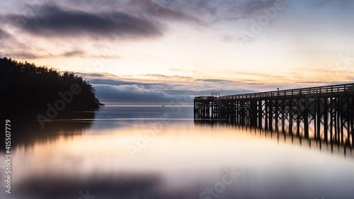 Billede på lærred Sunset at Deception Pass, Oak Harbor, Washington