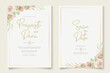 Soft floral wedding invitation template