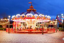 Amusement Carousel In The Park