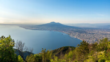 Vesuvius And Naples Seen From Monte Faito, Aerial View