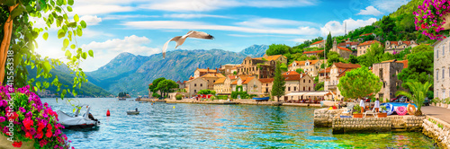 Perast at Bay of Kotor - fototapety na wymiar