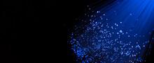 Fiber Optics Close Up. Internet Background