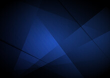 Abstract Template Blue Triangles Geometric Overlapping Background.