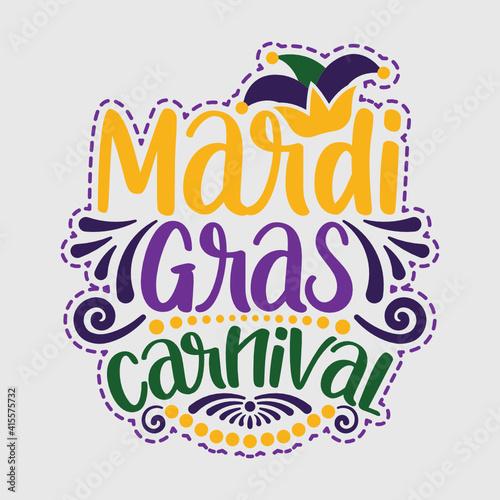 Mardi Gras Carnival | Happy Mardi Gras | Mardi Gras 2021 | Mardi Gras | Womens M Fototapeta