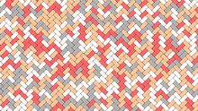 Pattern Of Tiles Cobblestone Pavement. Color Geometric Mosaic Street Tiles. Paver Block Of Paving Slab.