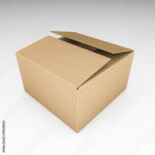 Fototapeta cardboard box isolated on white obraz