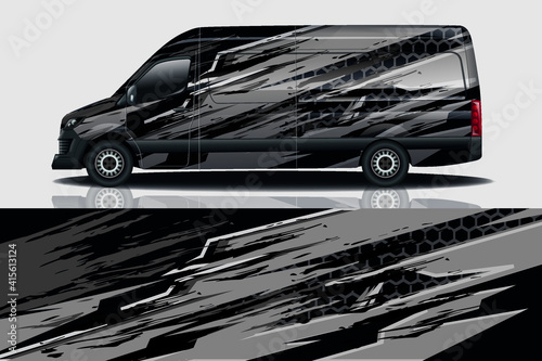 Obraz na płótnie Car wrap graphic racing abstract background for wrap and vinyl sticker