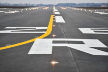 Tarmac Detail On A Newly Constructed Airplane Runway