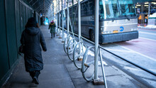 TRANSPORT METHODS SIDEWALK BUS BIKE STAND