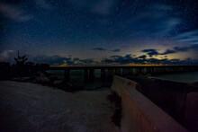 Big Pine Key, Bahia Honda State Park, Oversees Hwy, Florida At Night Under The Stars
