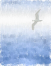 Seagull Abstract Painting