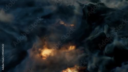 Obraz na plátně 3d rendered illustration of Magical Fire Storm Inferno