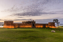 Evening View Of Fortress Of San Felipe In Puerto Plata, Dominican Republic