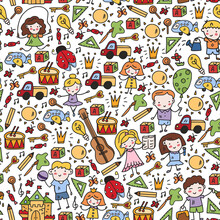 School, Kindergarten With Cute Vector Children. Dancing, Singing, Painting, Online Education. Creativity And Imagination.