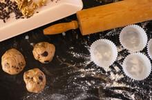 BAKEING CHOCCOLATE COOKIES, Walnuts, Chocolate, Chocolate Nips, Milk