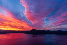 摩周第三展望台 摩周湖の夜明け