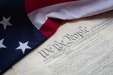 The Flag And The Constitution Of United States Of America