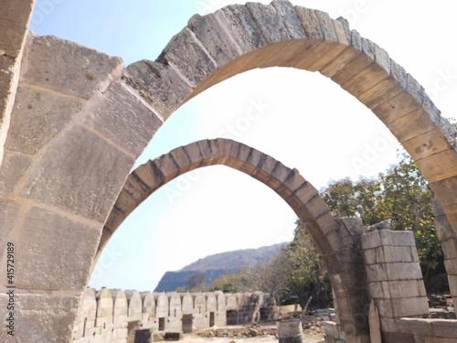 Photo ancient roman aqueduct country