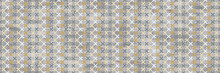 Yellow Textile Design And Cement Texture Background, Geometric Pattern