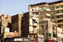 Old Cairo View, Egypt. Old Street Of Arabish Cairo, Egypt