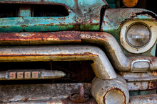 Rusty Old Abandoned Farm Truck
