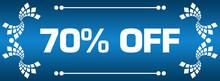 Discount Seventy Percent Off Blue Vintage Element Left Right Text
