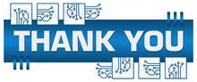 Thank You Blue Squares Box Circuit Elements