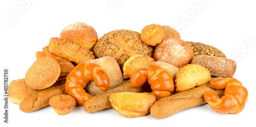 Set bread products isolated on white © Serghei Velusceac