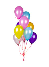 Colorful Balloons With Helium