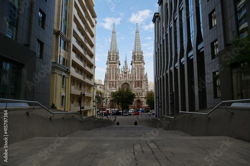 Obraz na plátně View of Roman Catholic Church of St