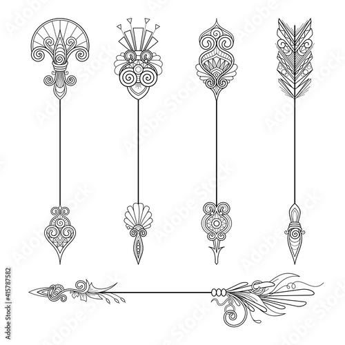 Fotografija Vector Monochrome Set of Arrows