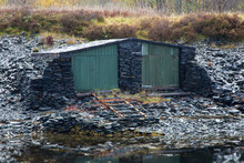 Old Boat Shed On Scottish Loch