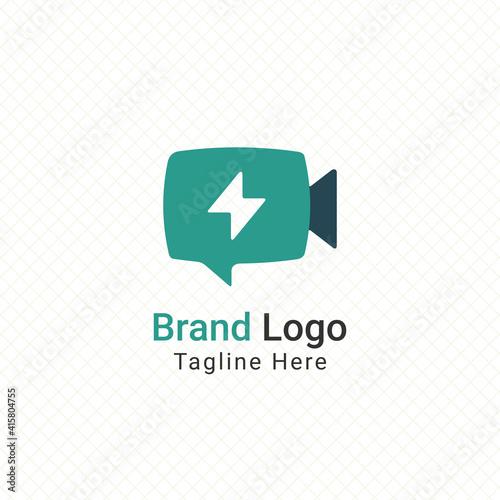 Fotografie, Obraz flash video editor logo vector graphic design
