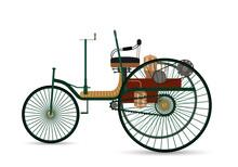 The World's First Car 1886 Benz Patent-Motorwagen.