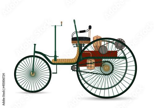 the world's first car 1886 Benz Patent-Motorwagen. фототапет