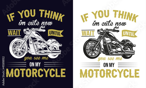 vintage motorcycle - t-shirt design