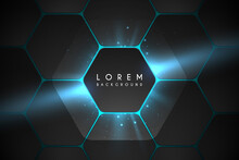 Abstract Hexagonal Background With Light Effect