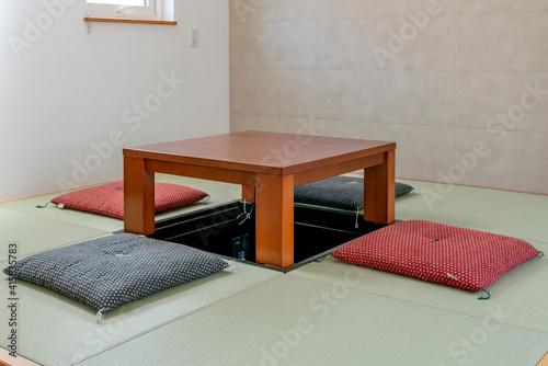 Tablou Canvas 掘りごたつ 畳の部屋