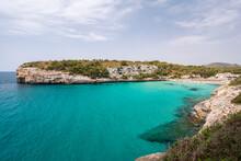 Cala Romantica Bay At Mallorca Island In Summer Time