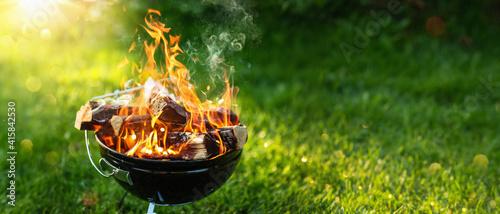 Fotografia Barbecue Grill. Fire Flame