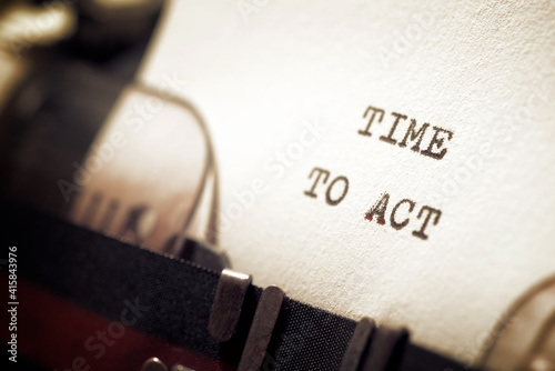 Canvas-taulu Time to act