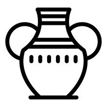 Amphora Icon. Outline Amphora Vector Icon For Web Design Isolated On White Background