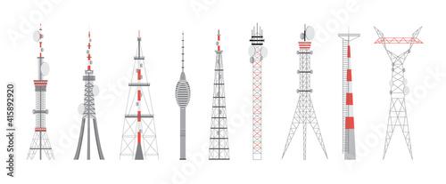 Canvastavla Telecommunication towers, equipment with antenna for radio communication