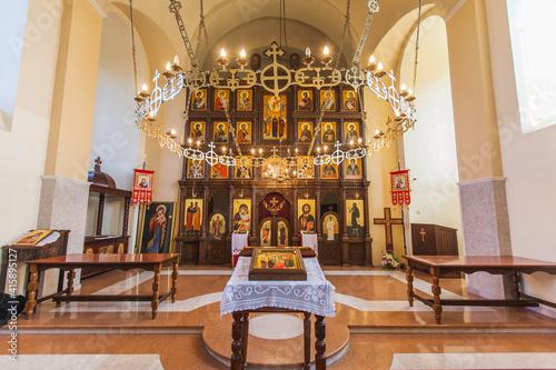 Fotografie, Obraz Serbian Orthodox Church, Orthodox christening ceremony prepare, Orthodox Church