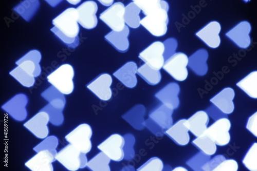 Obraz Tło niebieskie abstrakcyjne bokeh - fototapety do salonu