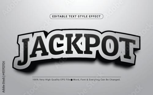 Fototapeta Jackpot Tag line Text Effect, Editable Text Font Effect obraz
